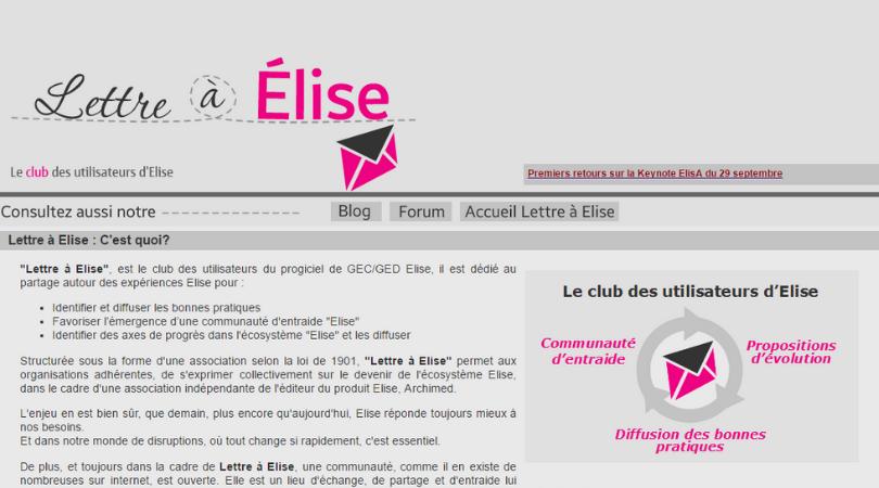 Site Internet Lettre à Elise